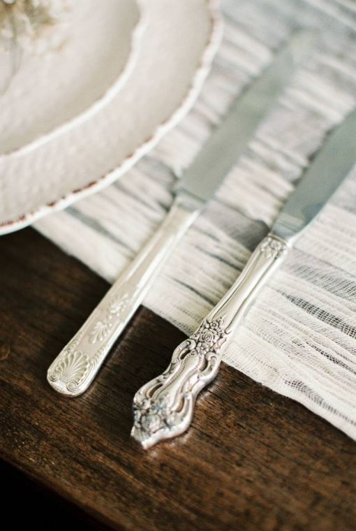 vintage cutlery hire for weddings in the Cotswolds