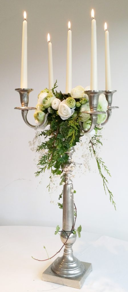 luxury silver candelabras for hire at weddings and special occasion events