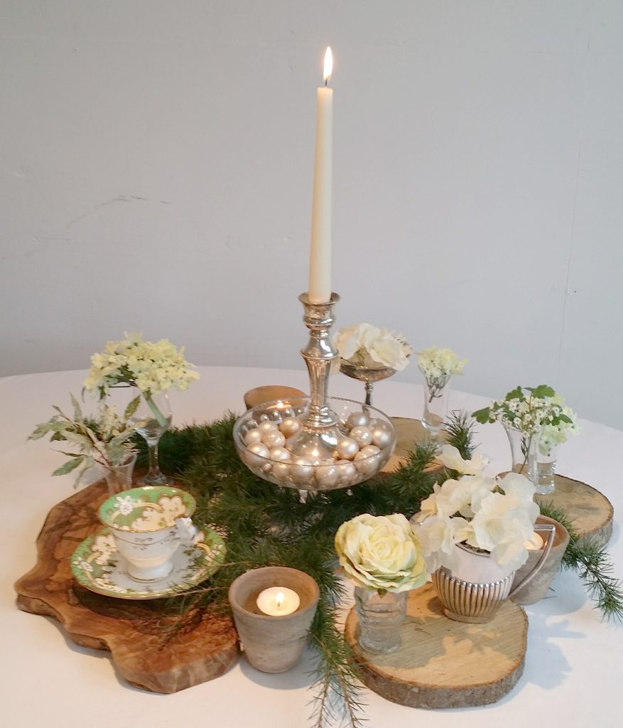 woodland wedding inspired low table centre ideas