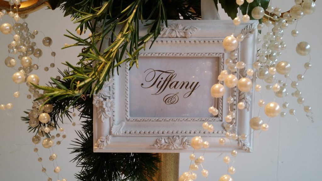 white table name frames to hire