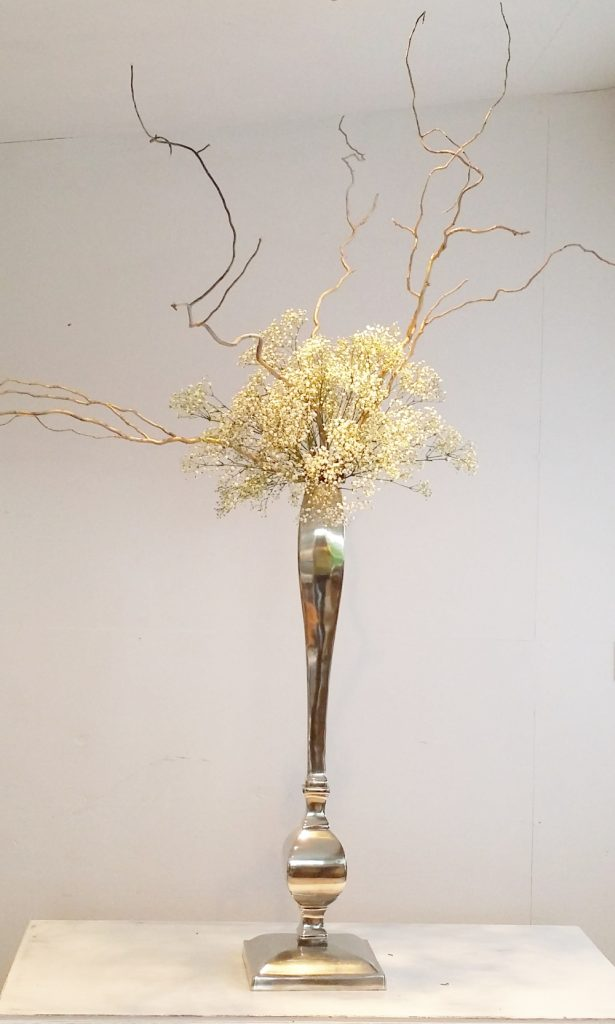 tall elegant wedding table centre decoration