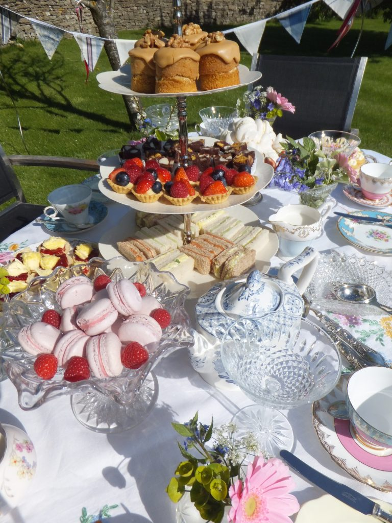 Hire for an afternoon tea of vintage crockery, bunting & 3 tier cakestands