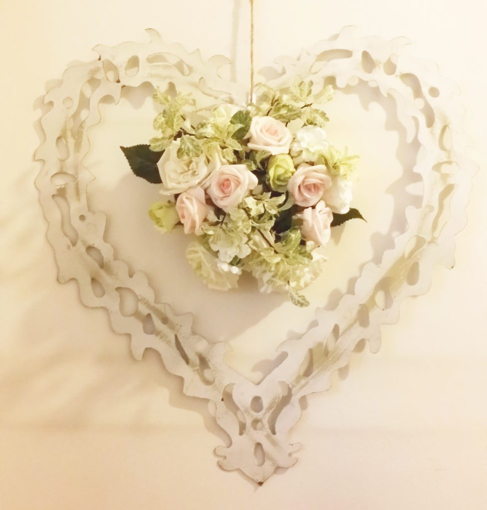 hire hearts to decorate as wedding decoration