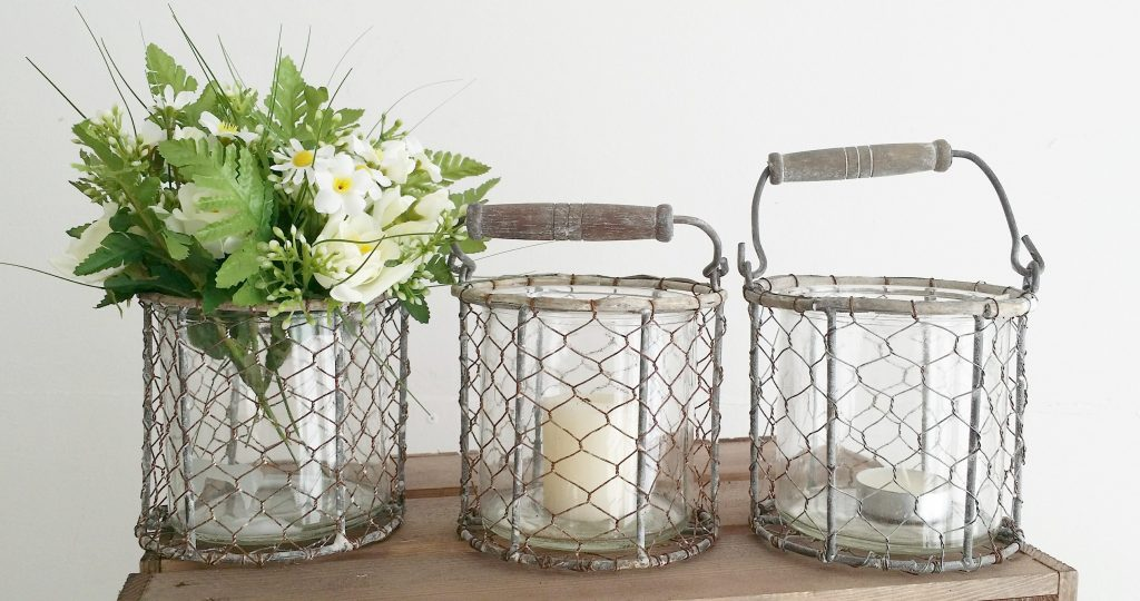 hire rustic candle or flower holders for woodland wedding decor