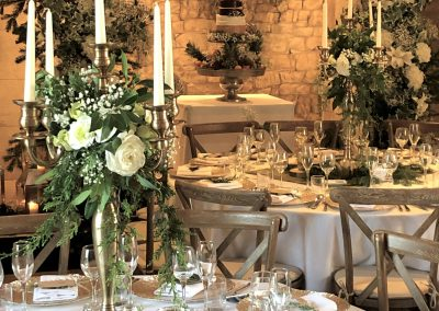 woodland wedding ideas & gold candelabra to hire