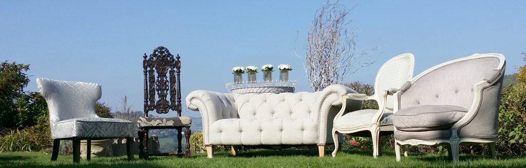 Hire vintage furniture in French Grey for weddings