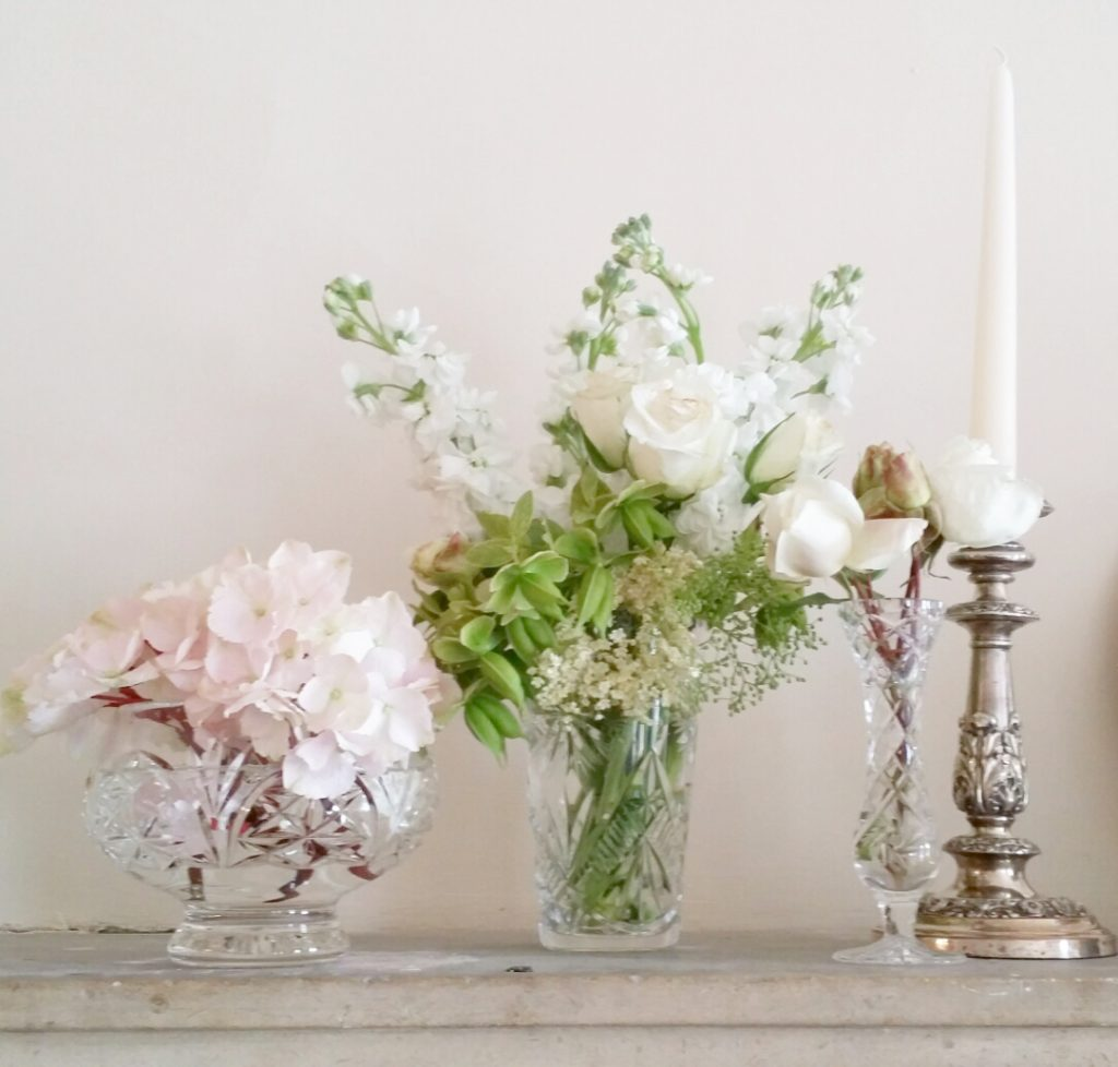 Hire vintage candlesticks & vintage vases for DIY weddings