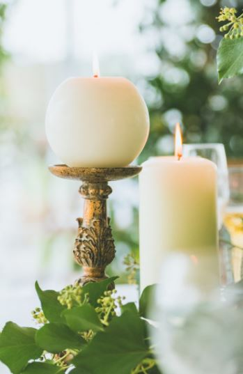 gold rococo candlesticks to hire for luxury gold weddings