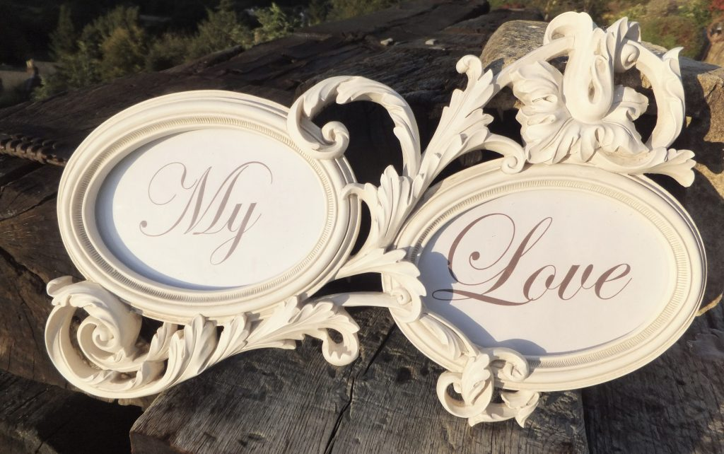 wedding names & frames for hire