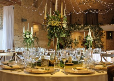 hire dressed gold candelabra