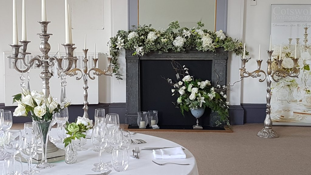 Hire candelabras & wedding flowers at Pittville pump rooms ,Cheltenham