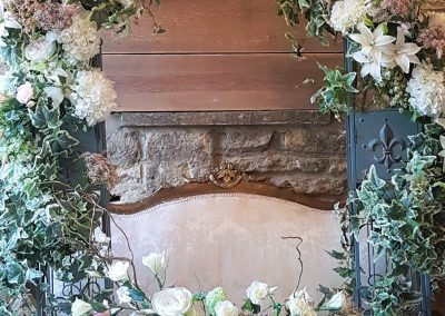 hire floral wedding pillars